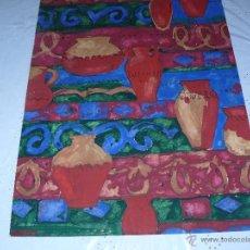 Arte: ACUARELA - TERESA FONT - VASIJAS.. Lote 40050328