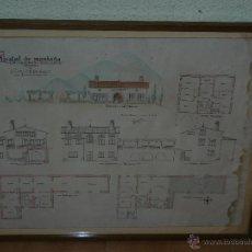 Arte: ACUARELA - ANÓNIMA - HOSTAL DE MONTAÑA - CAN SARDAÑOLA - GISCLARENY. Lote 40178054