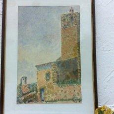 Arte: FIRMADA E.CASAS, ANTIGUA ACUARELA, ENMARCADA.. Lote 40663976
