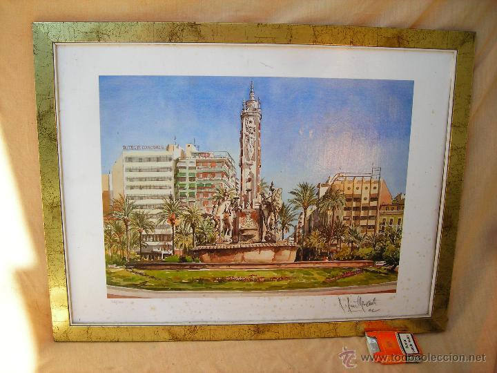 ACUARELA NUMERADA,FECHADA Y FIRMADA (Arte - Acuarelas - Contemporáneas siglo XX)