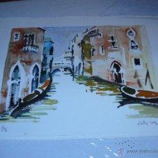 Arte: ACUARELA - FIRMA ILEGIBLE - CANAL VENECIANO. Lote 40905959