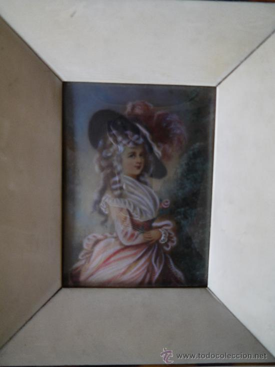 MINIATURA FIRMADA DEL SIGLO XIX (Arte - Acuarelas - Modernas siglo XIX)