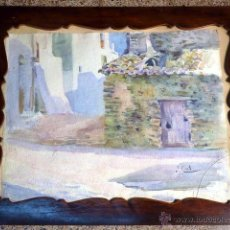 Arte: ACUARELA DE JOSE CIVIL PICARILL(CATALUÑA 1872-?)TIENE OBRAS EN EL MUSEO MARTINEZ LOZANO DE LLANÇA.. Lote 41237823