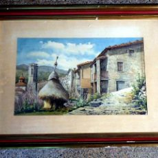 Arte: ACUARELA DE JOAN VILA ARIMANY.1970.SANT MIQUEL DE RUPIT.. Lote 41252999
