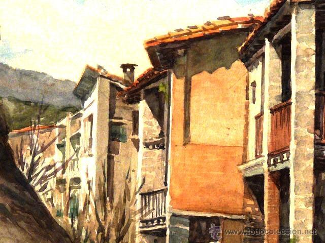 Arte: acuarela de Joan Vila Arimany.1970.sant miquel de rupit. - Foto 5 - 41252999