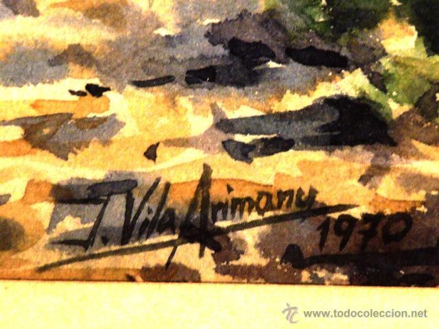 Arte: acuarela de Joan Vila Arimany.1970.sant miquel de rupit. - Foto 7 - 41252999