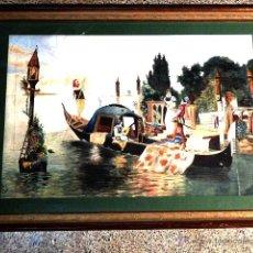 Arte: ACUARELA SOBRE PAPEL.FIRMADA J.GIRO.1886.VENECIA.MUY TRABAJADA.. Lote 41253205