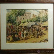 Kunst - PAREJA ACUARELAS firmadas F.Paris - 41312194