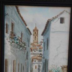 Arte: ACUARELA S/PAPEL, CON CRISTAL PROTECTOR Y ENMARCAD0. IMAGEN DE CABRA (CÓRDOBA). DIM.- 43X34 CMS.. Lote 41354826