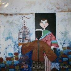 Arte: EL PAJARERO, ACUARELA, 36 X 36 CMS. Lote 41365232