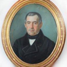 Arte: JOSEP PARERA Y ROMERO ( BARCELONA 1830-1902 ) RETRATO PASTEL FECHADO EN 1855, MARCO: 62X76CM.. Lote 41510143