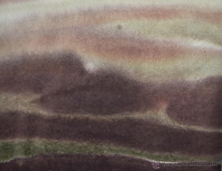 Arte: JOAN ABELLÓ MARTÍN ( BCN 1920 - 2007 ) ACUARELA SOBRE PAPEL FECHADA EN EL AÑO 1973 - Foto 3 - 41583456