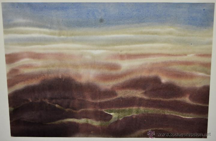 Arte: JOAN ABELLÓ MARTÍN ( BCN 1920 - 2007 ) ACUARELA SOBRE PAPEL FECHADA EN EL AÑO 1973 - Foto 9 - 41583456