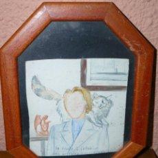 Arte: ACUARELA - ANÓNIMA - LA VISITE A L'ATELIER DES ARTISTES IMPRESIONISTES. Lote 41710451