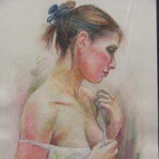 Art - Chica vistiendose Acuarela - 41871189