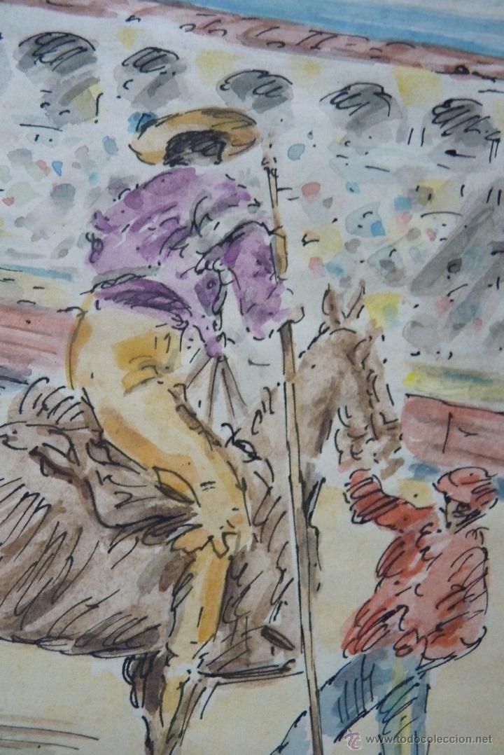 Arte: TOROS, TAUROMAQUIA, MAGISTRAL ACUARELA TAURINA, ANTONIO CASERO - Foto 2 - 41991746