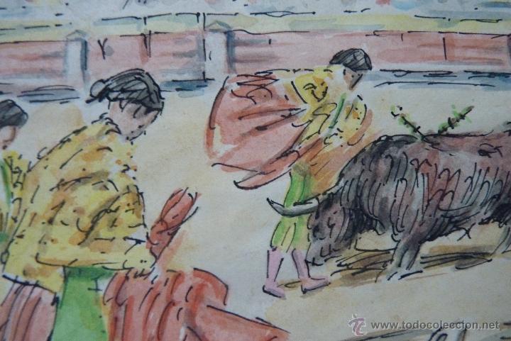 Arte: TOROS, TAUROMAQUIA, MAGISTRAL ACUARELA TAURINA, ANTONIO CASERO - Foto 3 - 41991746