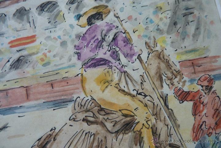 Arte: TOROS, TAUROMAQUIA, MAGISTRAL ACUARELA TAURINA, ANTONIO CASERO - Foto 4 - 41991746