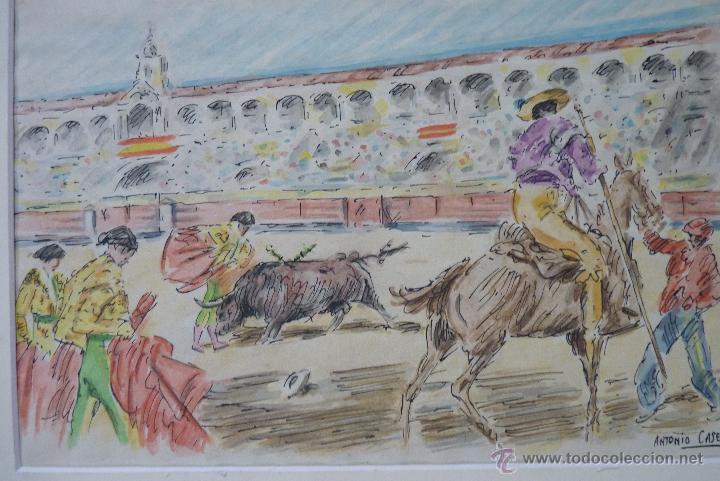 Arte: TOROS, TAUROMAQUIA, MAGISTRAL ACUARELA TAURINA, ANTONIO CASERO - Foto 6 - 41991746