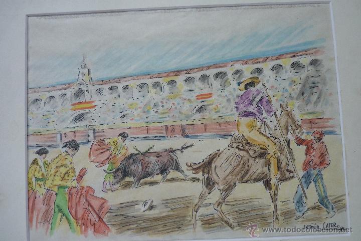 Arte: TOROS, TAUROMAQUIA, MAGISTRAL ACUARELA TAURINA, ANTONIO CASERO - Foto 7 - 41991746