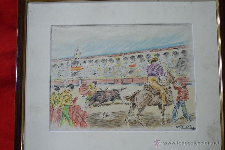 Arte: TOROS, TAUROMAQUIA, MAGISTRAL ACUARELA TAURINA, ANTONIO CASERO - Foto 8 - 41991746