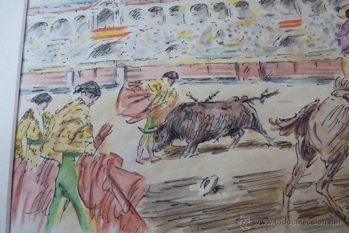 Arte: TOROS, TAUROMAQUIA, MAGISTRAL ACUARELA TAURINA, ANTONIO CASERO - Foto 10 - 41991746