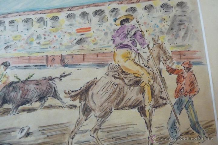 Arte: TOROS, TAUROMAQUIA, MAGISTRAL ACUARELA TAURINA, ANTONIO CASERO - Foto 11 - 41991746