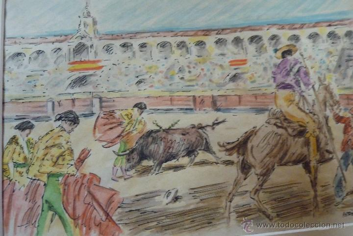 Arte: TOROS, TAUROMAQUIA, MAGISTRAL ACUARELA TAURINA, ANTONIO CASERO - Foto 12 - 41991746