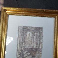 Arte: MARAVILLOSA PINTURA CON TINTA CHINA, SEGOVIA, BLANCA MAC MAHON. Lote 54931506