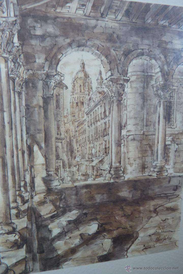 Arte: MARAVILLOSA PINTURA CON TINTA CHINA, SEGOVIA, BLANCA MAC MAHON - Foto 5 - 54931506