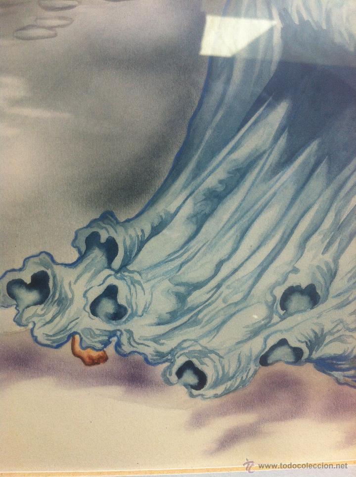 Arte: Impresionante pareja de acuarelas de los años 50. Firmado por A. Leal ( Amable Leal ). - Foto 8 - 42235982