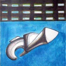 Arte: DESCENSO DEL ESPIRITU SANTO,1999, GOUACHE Y ROTULADOR/PAPEL, DE ALMA AJO.. Lote 26292208