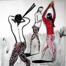 Arte: BACANAL,1991, TINTA CHINA / PAPEL. DE ALMA AJO. Lote 27612325