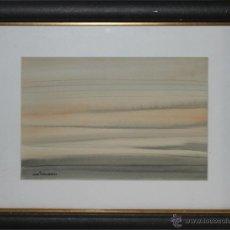 Arte: XAVIER UBACH LINARES (1933) - EL CLAR PAÏS (HOSPITALET DE LINFANT) - ACUARELA - MED.: 30 X 21 CM.. Lote 42426380