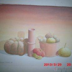Arte: ACUARELA PINTURA DE ALICANTE MARTINEZ ALCARAZ AÑOS 80 BODEGON. Lote 42568417