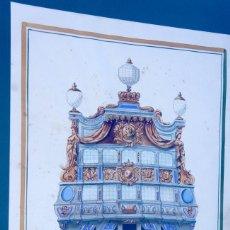 Arte: LE BRILLIANT - ASR FIRMADO Y NUMERADO 3, ACUARELA Y GOUACHE PINTADO A MANO CON EL SELLO ATELIER DU. Lote 42830242