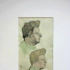 Arte: MARAVILLOSO RETRATO ORIGINAL EN ACUARELA, FIRMADO Y FECHADO 1930, EXCELENTE CALIDAD. Lote 42873275