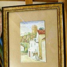 Arte: VIEJA ACUARELA FIRMADA H.S.GMELIG TORREMOLINOS. Lote 42899625