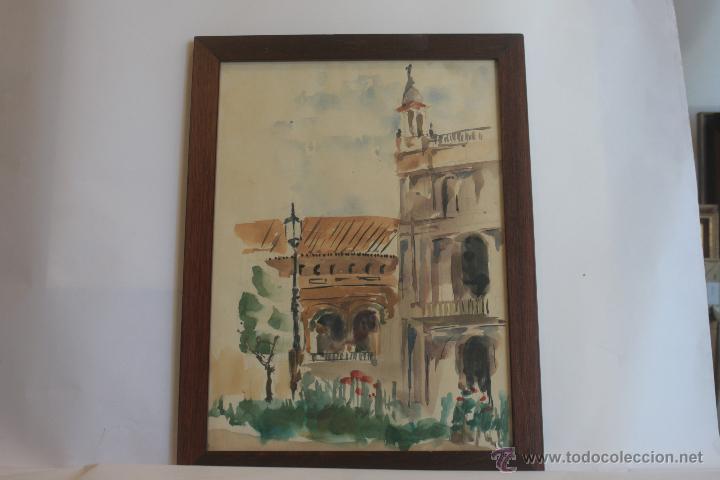 PLAZA DE TOROS LA MAESTRANZA (Arte - Acuarelas - Contemporáneas siglo XX)