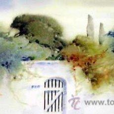 Arte: EL JARDIN, DELICIOSA ACUARELA DE JOSEP BRUGALLA. Lote 42962050