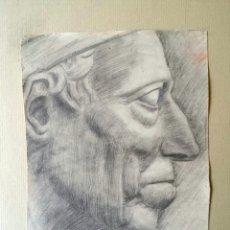 Arte: EXTRAORDINARIO RETRATO CLÁSICO ORIGINAL EN ACUARELA, GRAN CALIDAD, DETALLISMO. Lote 42973455