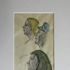 Arte: EXTRAORDINARIOS RETRATOS CON MARAVILLOSA PINCELADA IMPRESIONISTA, FIRMADO Y FECHADO 1930. Lote 42983123