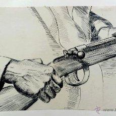 Arte: EXTRAORDINARIO ESTUDIO ORIGINAL DE UN SOLDADO DE LA SEGUNDA GUERRA MUNDIAL, GRAN CALIDAD. Lote 43159731