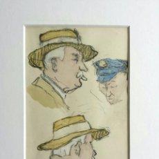 Arte: INTERESANTES ESTUDIOS ORIGINALES EN ACUARELA, ART DECO, FIRMADO Y FECHADO, 1928. Lote 43240463