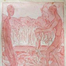 Arte: EXCELENTE ACUARELA DEL GRAN PINTOR ALEMAN WOHL H. FREITAG, FIRMADA Y FECHADA 1949. / 37 X 25 CM. Lote 43266958