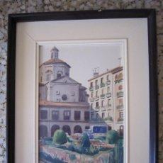 Arte: ACUARELA - CÁNDIDO ÁVILA - SAN LORENZO - (PAMPLONA) - AÑOS 70. Lote 43399646