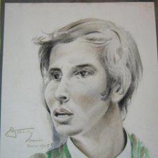 Arte: AÑO 1965 . RETRATO ORIGINAL DIBUJO ACUARELA - TORERO MATADOR - FIRMADO. Lote 34368707