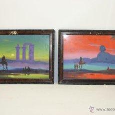 Arte: O1-003-PAREJA DE ACUARELAS DE TEMA ORIENTALIZANTE, FIRMADO M. ALVAREZ. Lote 43583904