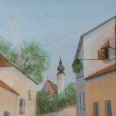 Arte: BELLA ACUARELA DE ERNST STERNBAUER - ARTISTA REFERENCIADO - VISTA DE GRINZIG EN AUSTRIA. Lote 43584154