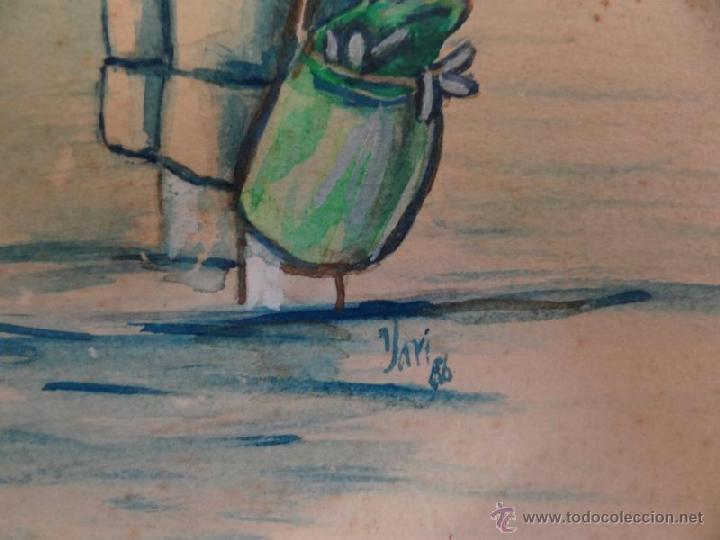 Arte: BELLA ACUARELA INFANTIL - FIRMADA Y DATADA - Foto 5 - 43584261